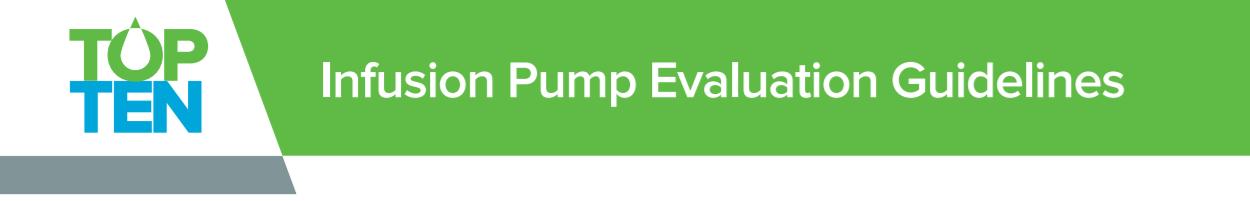 Infusion Pump Evaluation Guidelines - IV Smart Pumps