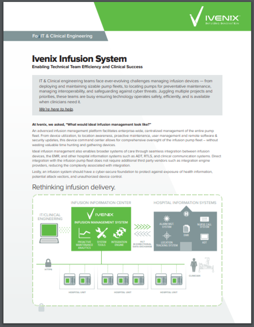 Infusion System for IT & Clinical Engineering