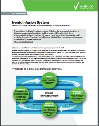 Product Brief: Infusion System for Pharmacists